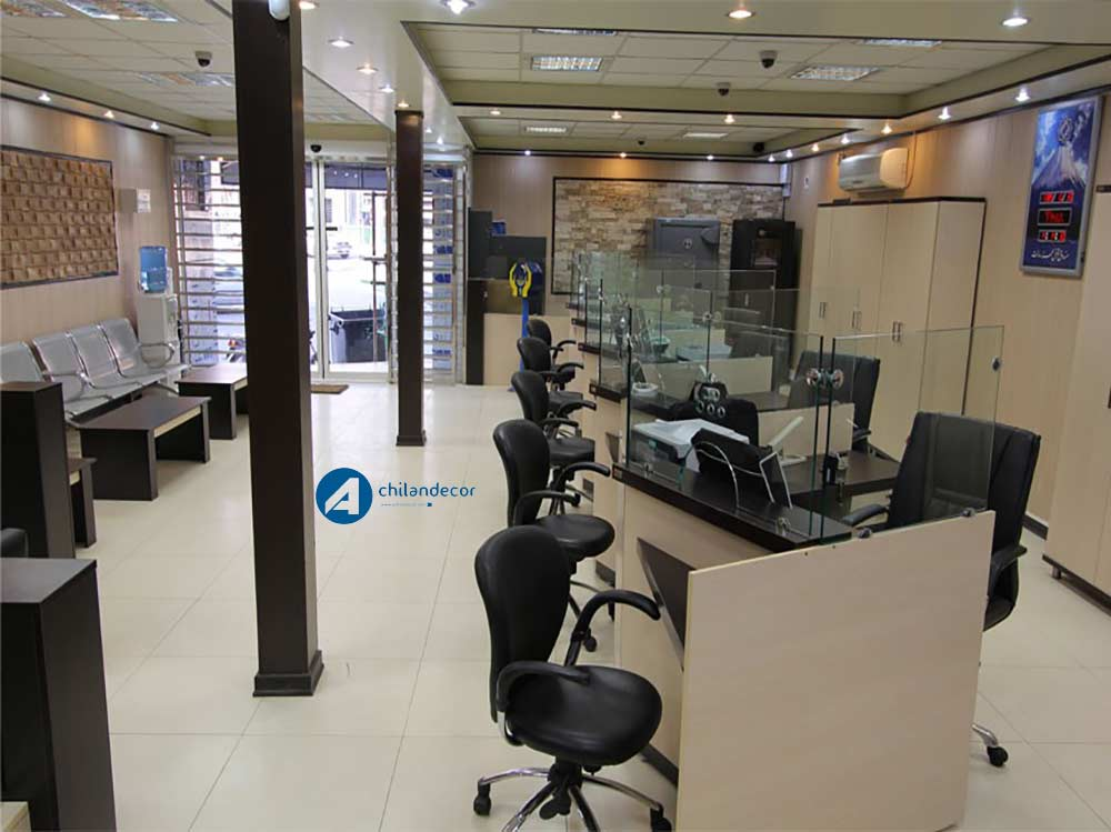 طراحی دکوراسوین بانک آچیلان دکور